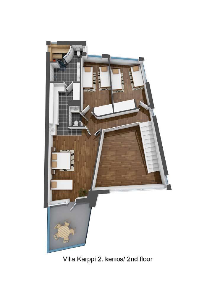 Villa Karppi 2.kerros / 2nd floor