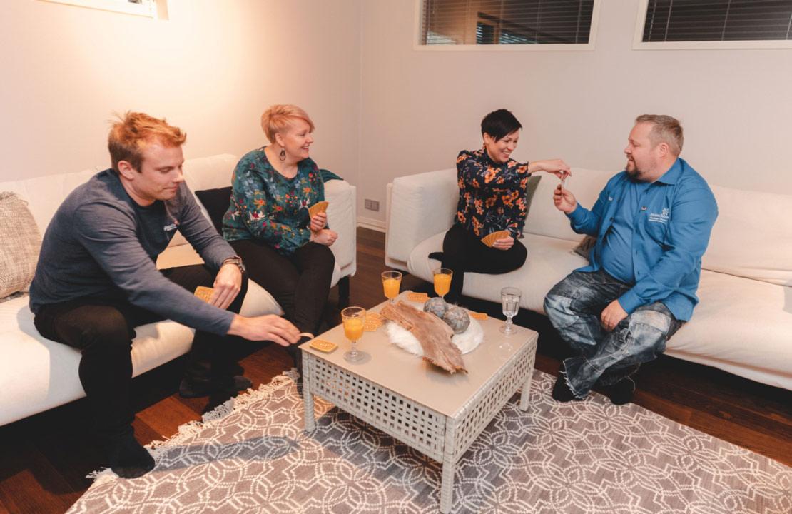 Meeting in Villa Karppi lounge